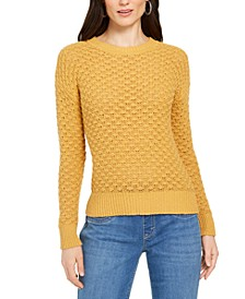 Petite Bubble-Knit Pullover Sweater, Created for Macy's