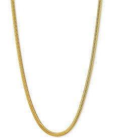 "Snake Link 20"" Chain Necklace in 18k Gold-Plated Sterling Silver"