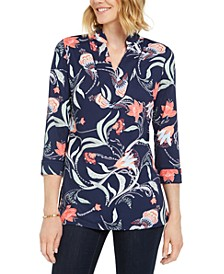 Petite Paisley-Print Tunic, Created for Macy's