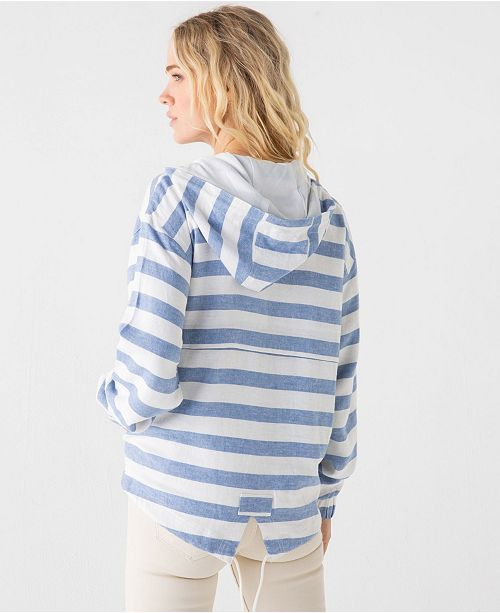 Thread and Supply Thread Supply Striped Windbreaker Pullover