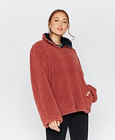 Thread Supply Quarter Snap Sherpa Pullover