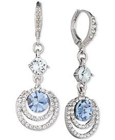 Crystal Halo Drop Earrings