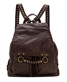 Vintage Washed Leather Atrani Backpack