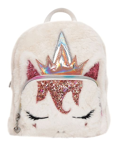 OMG! Accessories Queen Miss Gwen Plush Unicorn Mini Backpack