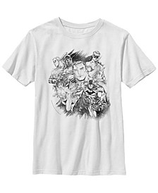 DC Comics Little and Big Boys Stand Tall with The Justice League Short Sleeve T-Shirt