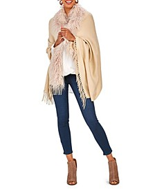 Gatsby Glamour Trimmed Cape with Tassels