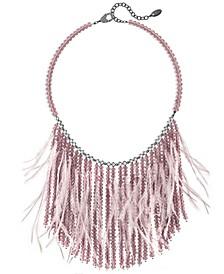 Glam Grandeur Feather Fringe Necklace