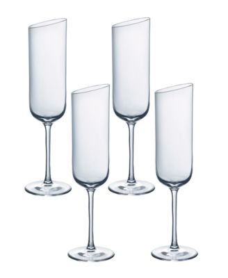 New Moon Flute Champagne Set of 4