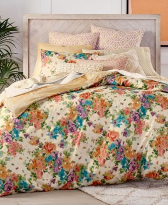 Eden Cotton Reversible 3-Pc. King Duvet Cover Set, Created for Macy's