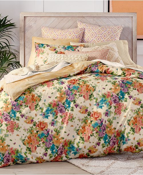 Lucky Brand Eden Cotton Reversible 3-Pc. King Duvet Cover Set, Created for Macy's