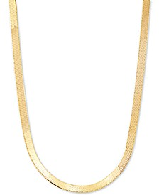 "Herringbone Link 20"" Chain Necklace in 18k Gold-Plated Sterling Silver"