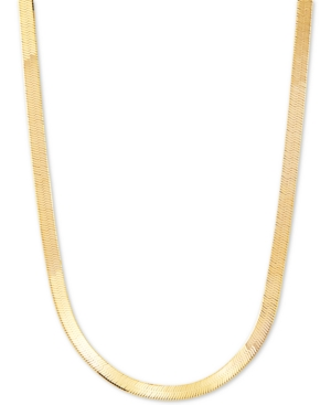 """Herringbone Link 20"""" Chain Necklace (4.5mm) in 18k Gold-Plated Sterling Silver"""