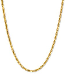 "Crisscross Twist Link 18"" Chain Necklace in 18k Gold-Plated Sterling Silver"