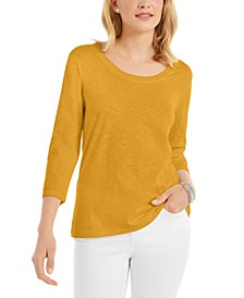 3/4-Sleeve Scoop-Neck Top, Created For Macy's