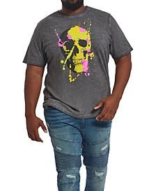 MVP Collections Men's Big & Tall Neon Skull T-Shirt