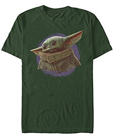 Men's The Mandalorian The Child Circle Portrait Short Sleeve T-Shirt