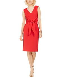 Knot-Front Sheath Dress