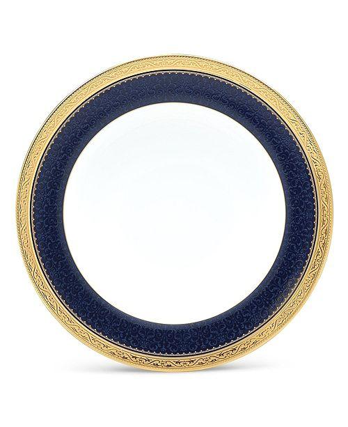 "Noritake Odessa Cobalt Gold Salad Plate, 8.5"""