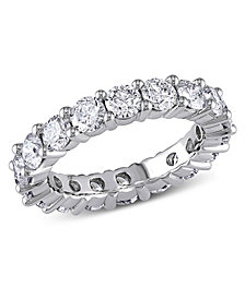 Certified Diamond (3 ct. t.w.) Eternity Band in 14k White Gold