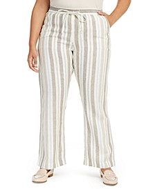 Plus Size Linen Pants, Created for Macy's