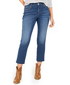 Straight-Leg Cropped Denim Jeans, Created for Macy's
