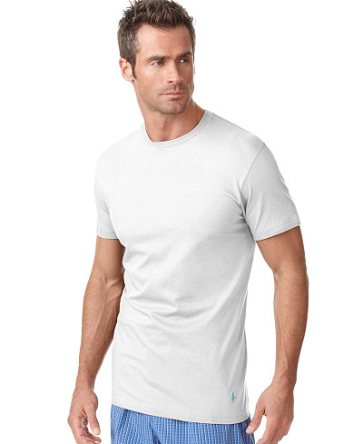 Polo ralph lauren men 39 s underwear classic crew undershirt for Polo shirt with undershirt