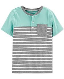 Little & Big Boys Cotton Striped Pocket Henley Shirt