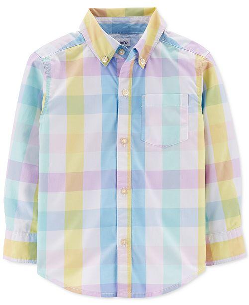 Carter's Toddler Boys Cotton Plaid Shirt
