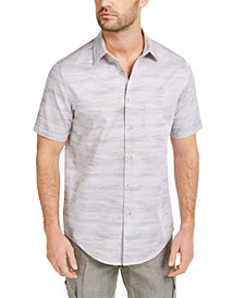 Men's Stretch Textured Stripe Shirt, Created for Macy's