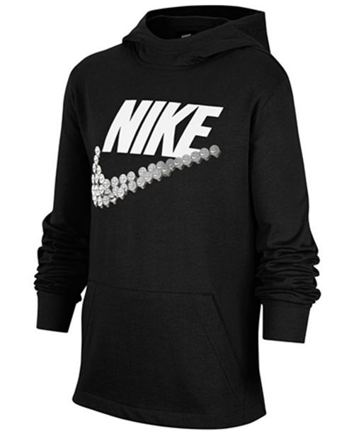 Nike Big Boys Cotton Emoji-Swoosh Jersey Hoodie