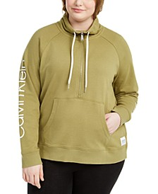 Plus Size Mock-Neck Sweatshirt