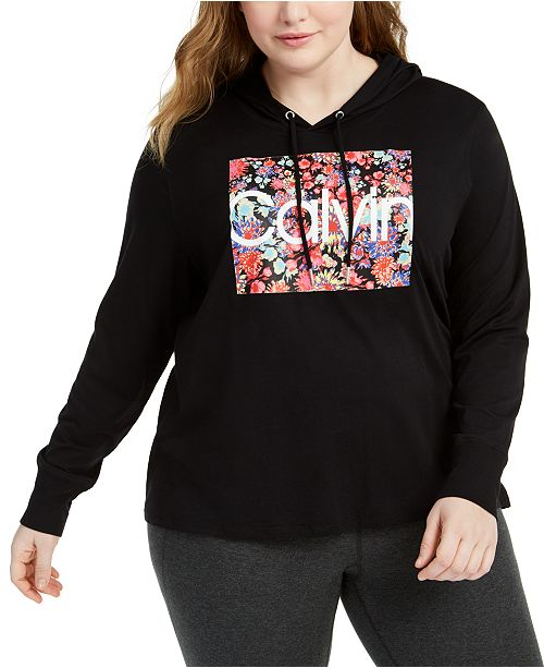 Calvin Klein Plus Size Hooded T-Shirt