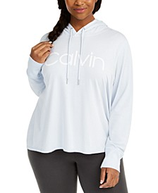 Plus Size Logo Hooded Top