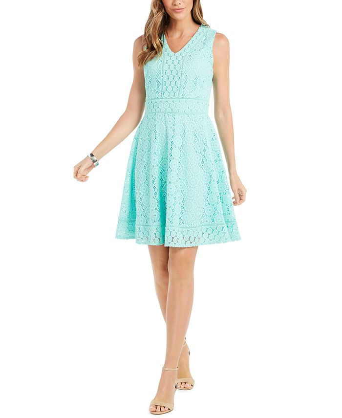 Charter Club - Lace Fit & Flare Dress