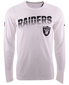 Men's Oakland Raiders Sideline Legend Line of Scrimmage Long Sleeve T-Shirt
