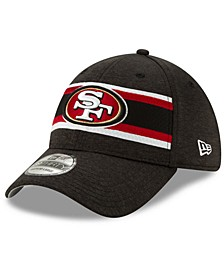San Francisco 49ers Striped Front Tech 39THIRTY Stretch Fitted Cap