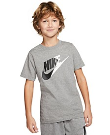 Big Boys Cotton Colorblocked Swoosh T-Shirt