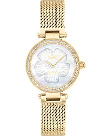 Women's Park Gold-Tone Stainless Steel Mesh Bracelet Watch 26mm