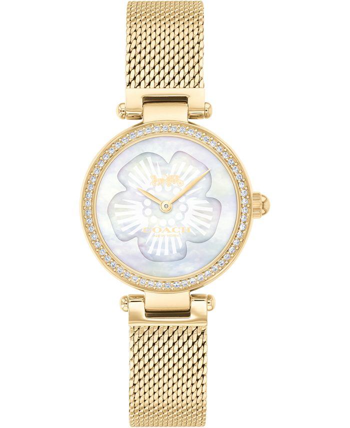 COACH - Women's Park Gold-Tone Stainless Steel Mesh Bracelet Watch 26mm