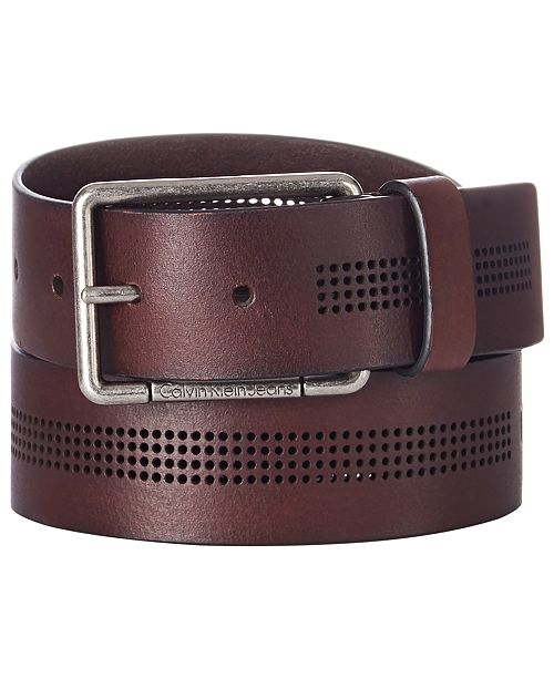 Calvin Klein Men's Perforated Leather Belt