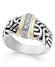 Two-Tone Pavé Vintage-Inspired Ring, Created for Macy's