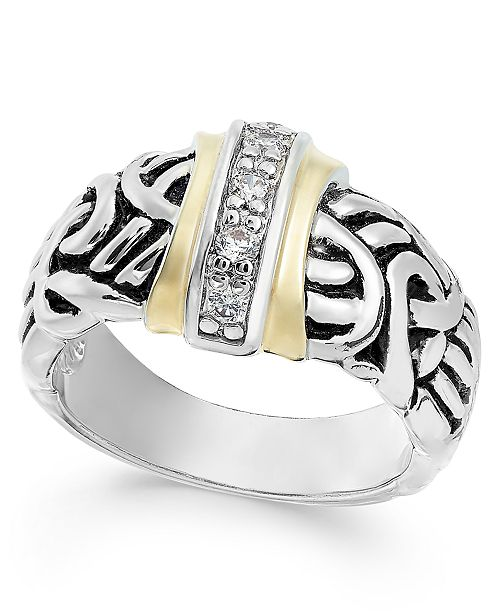 Charter Club Two-Tone Pavé Vintage-Inspired Ring, Created For Macy's