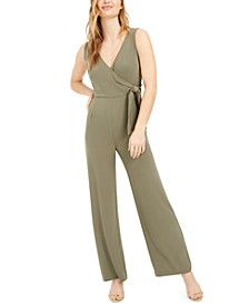 V-Neck Side-Tie Sleeveless Jumpsuit, Created for Macy's