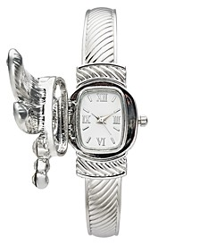 Women's Silver-Tone Cuff Bracelet Watch 25mm, Created for Macy's