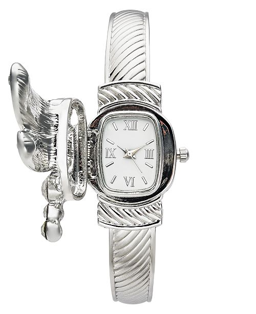 Charter Club Women's Silver-Tone Cuff Bracelet Watch 25mm, Created for Macy's