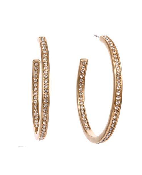 Christian Siriano New York Chiristian Siriano New York Medium Gold Tone Hoop Earrings 2""