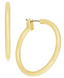 "Medium Tubular Hoop Earrings, 1.17"", Created for Macy's"
