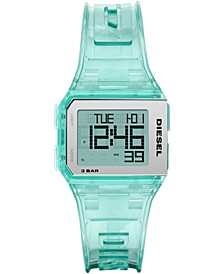 Men's Digital Chopped Green Polyurethane Strap Watch 38mm