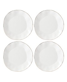 Blue Bay Dinner Plate  Set/4 White