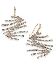 INC Crystal Zig-Zag Drop Earrings, Created for Macy's